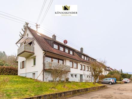 Murrhardt: Gepflegte 4-Zimmer Wohnung mit großzügigen Garten, Balkon und Stellplatz