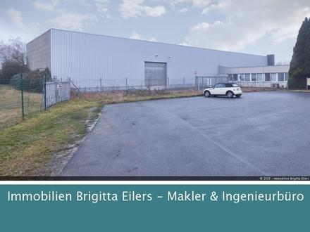 Gewerbezentrum Achim-Uesen: 2 Praktische Hallen mit Schwerlastkränen und Tageslicht (ca.7m Höhe)!