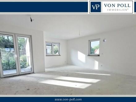 2 Zi.-Neubauwohnung im Erdgeschoss mit W-Terrasse und Gartenanteil