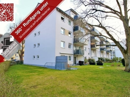 Erbpacht - Moderne 87m² große 3-Zimmer-Wohnung mit Balkon mitten in Frankfurt Niederrad