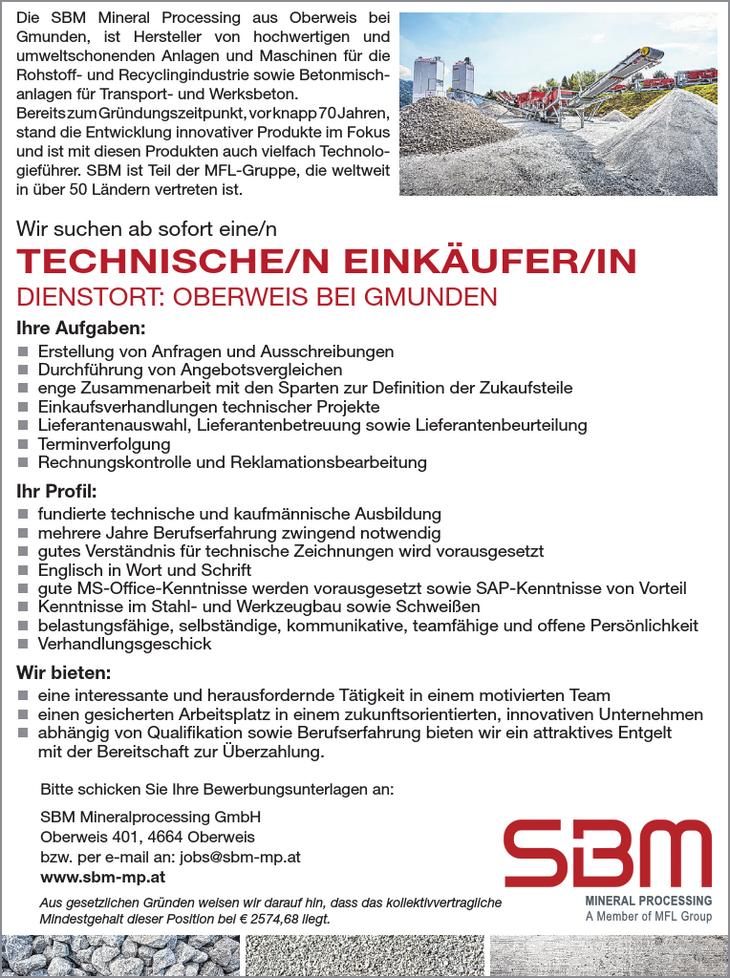 Das oberösterreichische Traditionsunternehmen SBM Mineral Processing ist einer führenden Hersteller von Aufbereitungs- und Förderanlagen für Kies, Sand, Schotter ähnliche Materialien. Das modern gefüh