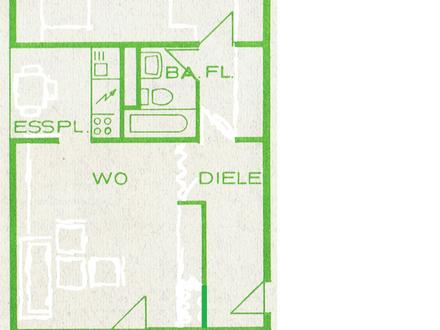 2 Zimmer Wohnung (59qm) in Köln Poll zu vermieten