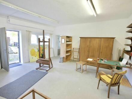 Klagenfurt Nord-West: 60 m² EG- Atelier / Büro (Fußbodenheizung, gute Bürobeleuchtung)