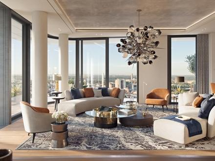 Spektakuläre Wohnung mit zwei Balkonen