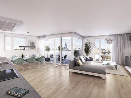 Großzügige 2-Zimmer-Neubauwohnung mit Einbauküche und Balkon