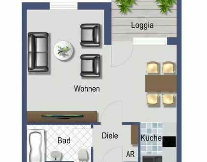 *Investment oder Eigenbedarf* helle 1-Zimmer-Wohnung mit Balkon