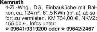 Kemnath4-Zi.-Whg., DG, Einbauk...