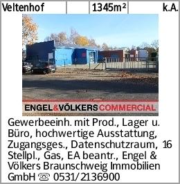 Veltenhof 1345m² k.A. Gewerbeeinh. mit Prod., Lager u. Büro, hochwertige...