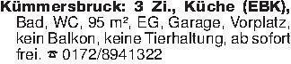 Kümmersbruck: 3 Zi., Küche (EB...