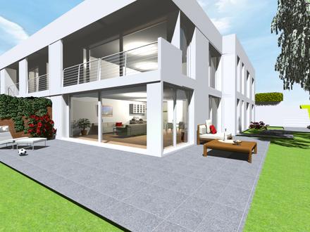 Die Terrasse der Gartengeschoß-Wohnung