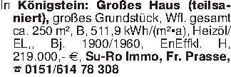 In Königstein: Großes Haus (te...