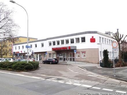 Untervermietung hochwertiger Gewerbeflächen, vormals als Bankenfiliale der Sparkasse Mainz genutzt!