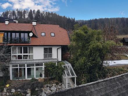 Klagenfurt - Paradies nahe Wörthersee: Doppelhaushälfte mit Schwimmteich, kleinem Stadl & 1.490 m² Grund
