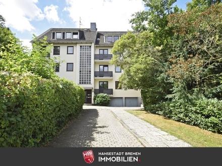Schwachhausen / Gepflegte 3-Zimmer-Wohnung mit 2 Balkonen und Garten