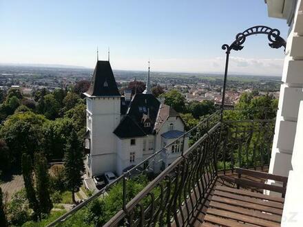 DG-Turm-Wohnung in stilvoller Villa mit Panoramablick über Baden mit Terrasse