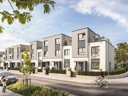 NEU | 5 Zimmer - 130 m² Wfl. | Reihenmittelhaus | West-Garten | Dachterrasse