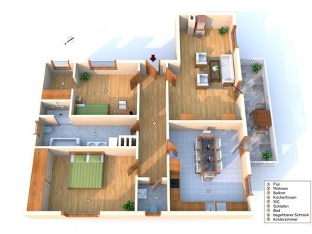 Exklusive 3-Zimmerwohnung mit Südbalkon