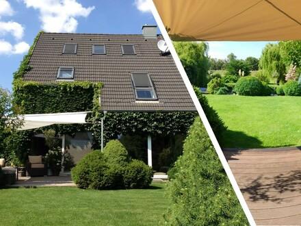 Wohnen im Grünen, gekoppeltes massives Einfamilienhaus in Privatstraße und U Bahn Nähe