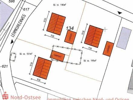3 Bauplätze en bloc in Hattstedt; der positive Bauvorbescheid liegt bereits vor!