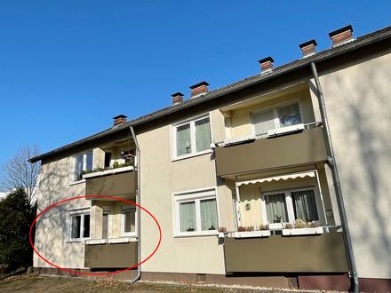 Bezugsfreie 3-Zi.-Mietwohnung mit Einbauküche und Garage