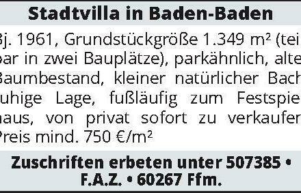 Stadtvilla in Baden-Baden