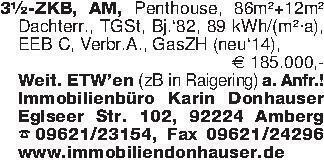 3½-ZKB, AM, Penthouse, 86m²+12...