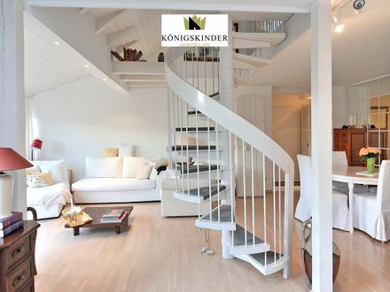 Exklusive und außergewöhnliche 4-Zimmer-Galerie-Maisonettewohnung mit Loggia in S-Plieningen