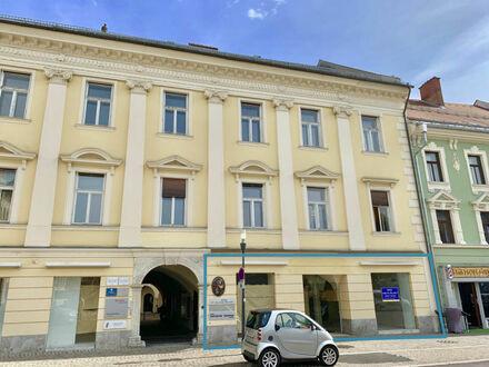 Klagenfurt - Neuer Platz 7: Geschäftslokal mit denkmalgeschützter Stuckdecke in hervorragender Lage