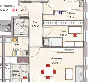 Wohnung 4 - nicht maßstabsgerecht