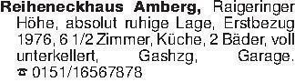 Reiheneckhaus Amberg, Raigerin...