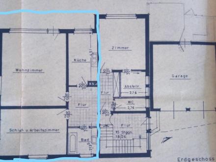 2-Zimmer-Wohung mit Terrasse und Blick ins Grüne
