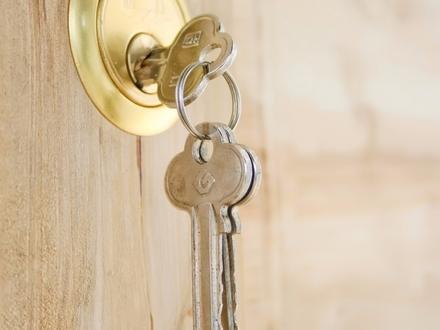 Schlüssel, Türe, neu