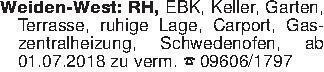 Weiden-West: RH, EBK, Keller,...
