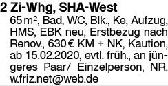 2 Zi Whg, SHA West