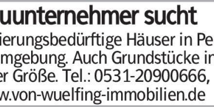 Bauunternehmer sucht sanierungsbedürftige Häuser in Peine u. Umgebung....