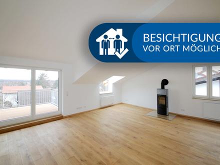 Erstbezug! Exklusive 3-Zimmer-Dachgeschosswohnung, top ausgestattet mit atemberaubender Aussicht