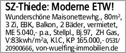 SZ-Thiede: Moderne ETW!