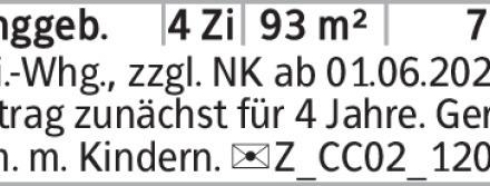 4-Zimmer Mietwohnung in Braunschweig (38100) 93m²