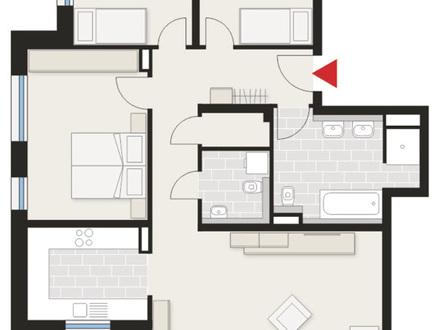 Erstbezug/Neubau - schöne, helle 4-Zimmer-Wohnung mit Balkon