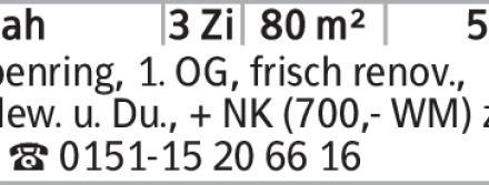 3-Zimmer Mietwohnung in Braunschweig (38106) 80m²
