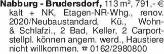 Nabburg - Brudersdorf, 113 m²,...