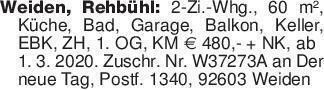 Weiden, Rehbühl: 2-Zi.-Whg., 6...