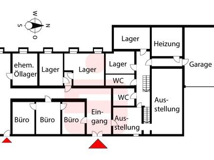 Produktionsfläche / Werkstatt mit Ausstellung und Büro