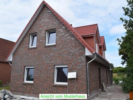 Neubau -- Keine Käuferprovision -- Doppelhaushälfte mit Stellplatz und Gerätehaus im Seemannsort Barßel