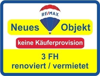 Keine Käuferprovision! 3 FH mit 3 Garagen & gr. Garten! vermietet ! Renoviert ! PV-Anlage*