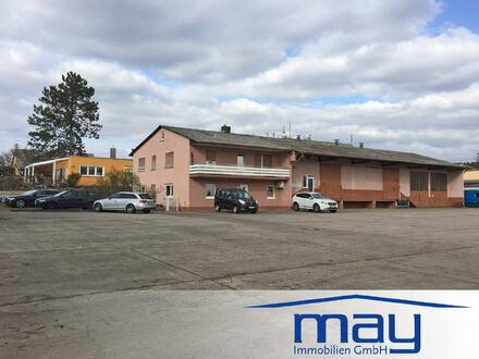Gewerbeanwesen mit Büro, 2 Lagerhallen und Wohnung in Alzenau