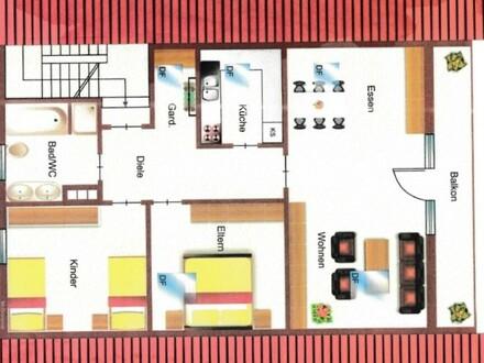 ARNOLD-IMMOBILIEN: Gemütliche Dachwohnung in ruhiger Lage
