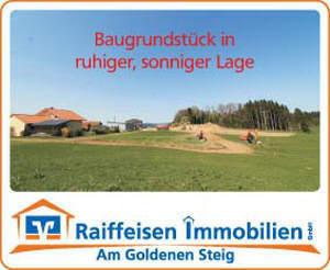 Baugrundstück in ruhiger, sonniger Ortsrandlage/Waldkirchen