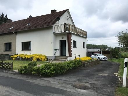 Idyllische Doppelhaushälfte im Außenbereich von Osnabrück-Hellern