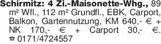 Schirmitz: 4 Zi.-Maisonette-Wh...